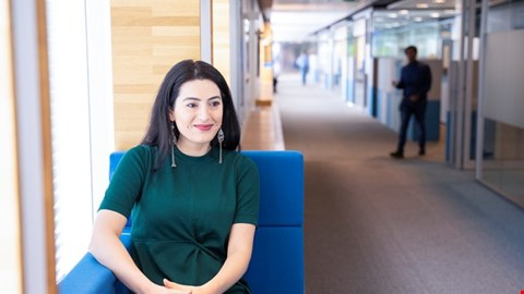 Tuğçe Işlak, a group financial controller at Aegon's corporate headquarters